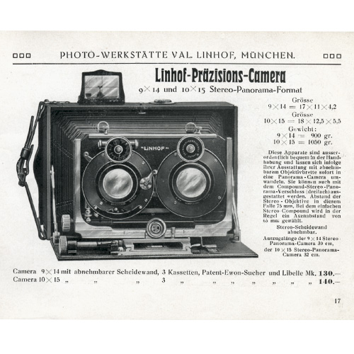 1911: Stereo-Panorama-Camera